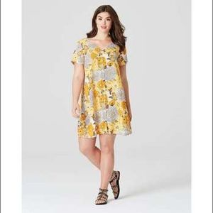 Alice & You button up floral V neck Dress - 14